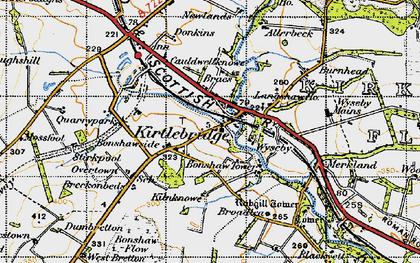 Old map of Kirtlebridge in 1947
