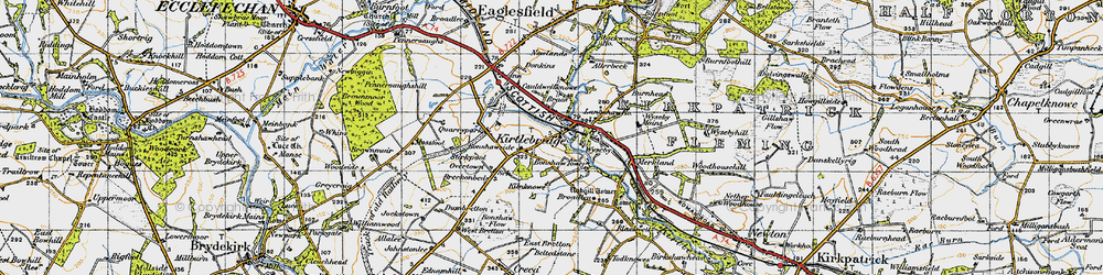 Old map of Wyseby in 1947
