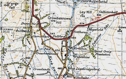 Old map of Lauriesclose in 1947
