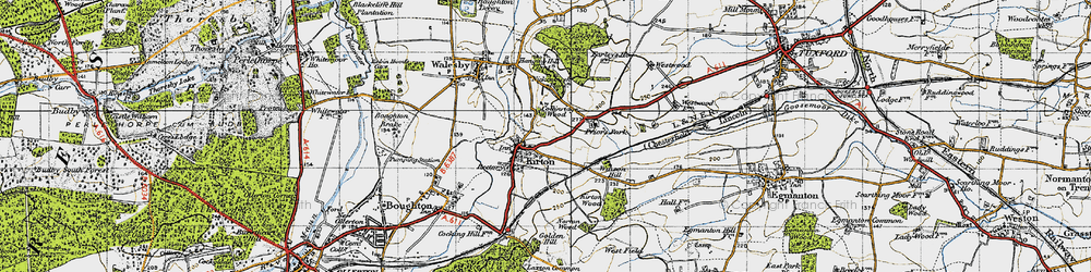 Old map of Winson Hill in 1947