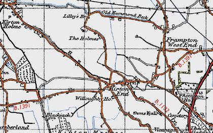 Old map of Baker's Br in 1946