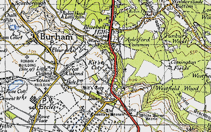 Old map of White Horse Stone in 1946