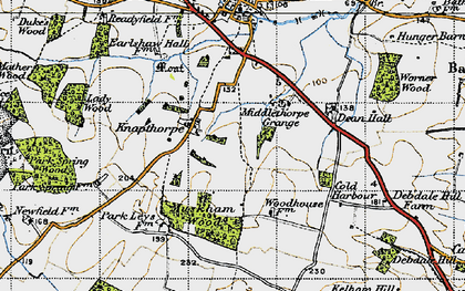Old map of Averham Park in 1947