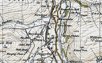 Old map of Williamston Common in 1947