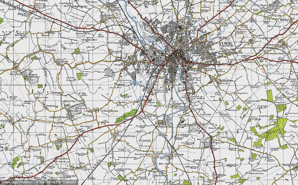 Old Map of Knavesmire, 1947 in 1947