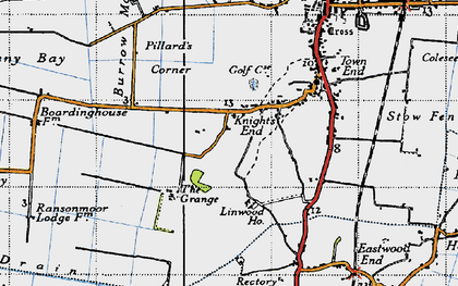 Old map of Linwood Ho in 1946