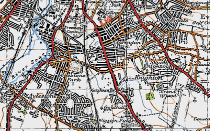 Old map of Knighton in 1946