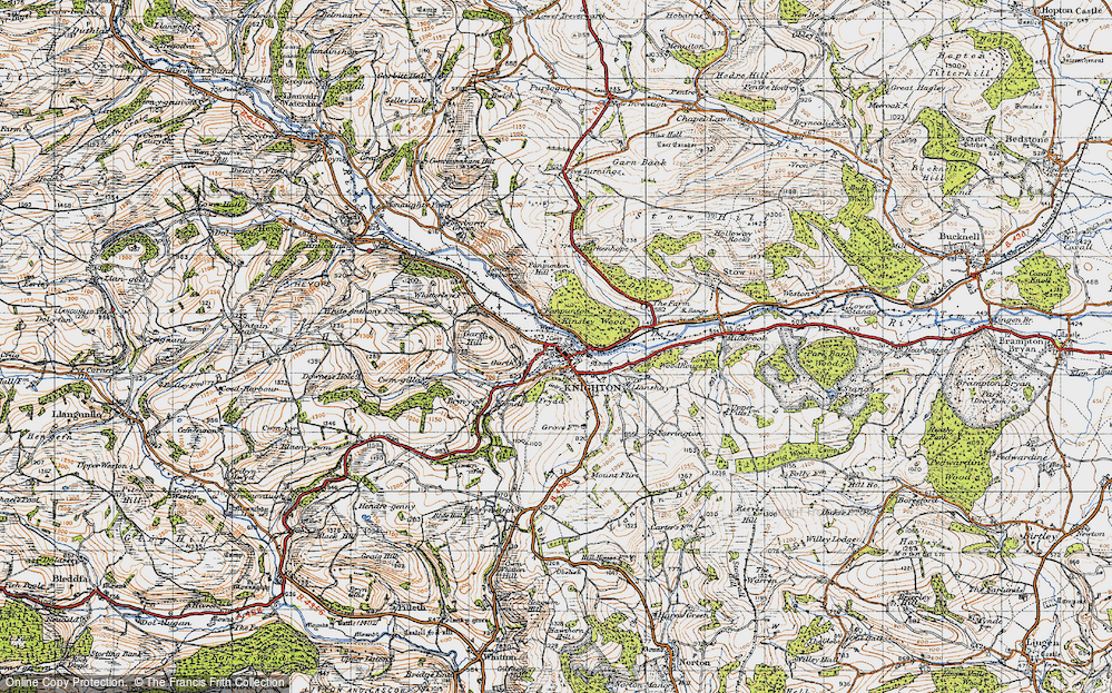 Old Map of Knighton, 1947 in 1947