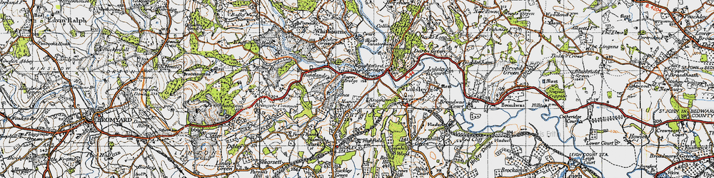 Old map of Knightwick in 1947