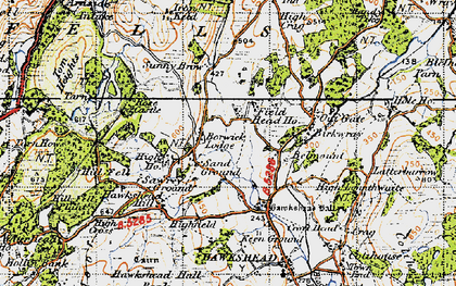 Old map of Yew Tree Tarn in 1947