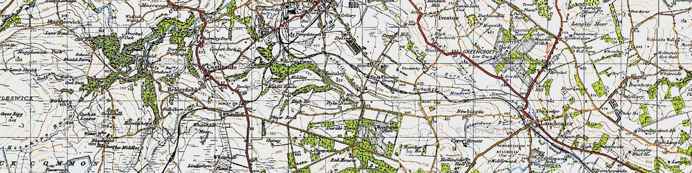 Old map of Woodlands Hall in 1947
