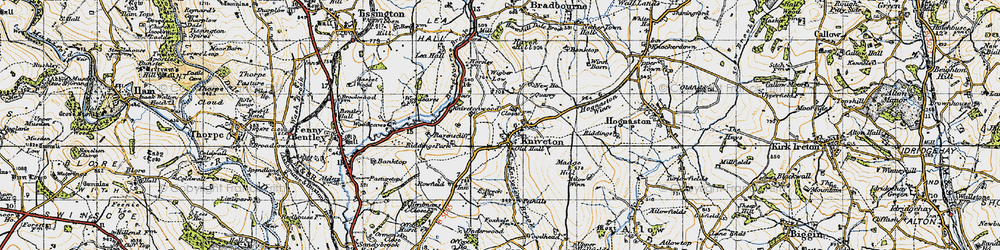 Old map of Wigber Low in 1946