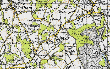 Old map of Knockholt in 1946