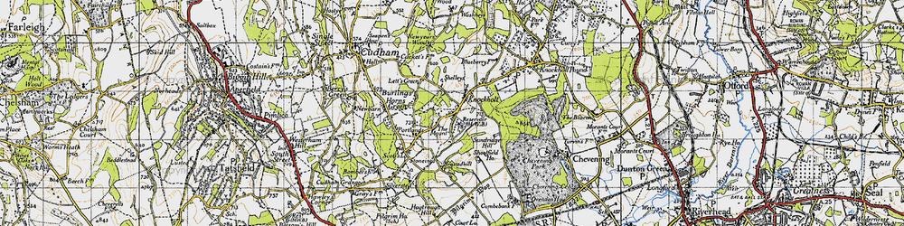 Old map of Knockholt in 1946
