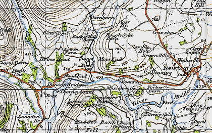 Old map of Back of Hill Barn in 1947