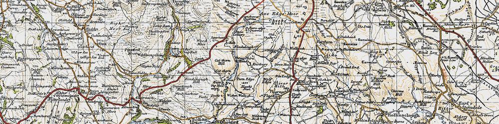 Old map of Whetstone Ridge in 1947