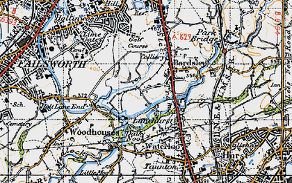 Old map of Bardsley House in 1947