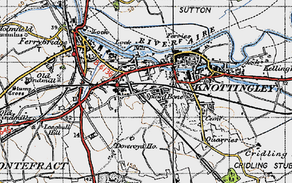 Old map of Knottingley in 1947