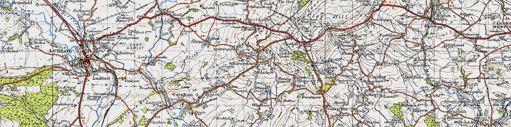 Old map of Whitewayhead in 1947
