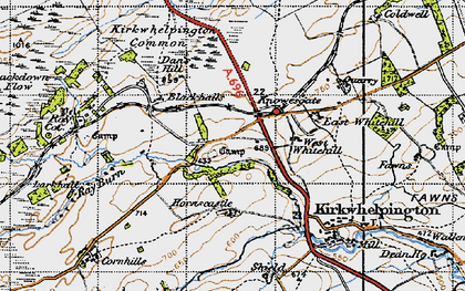 Old map of Larkhall in 1947