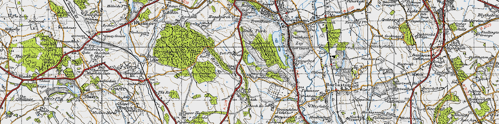 Old map of Toft, The in 1946