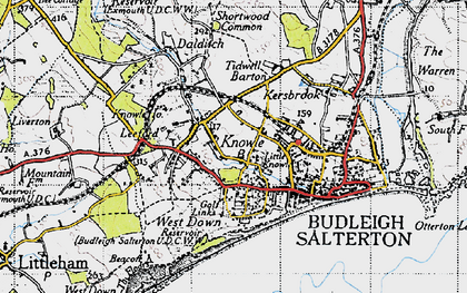 Old map of Leeford in 1946