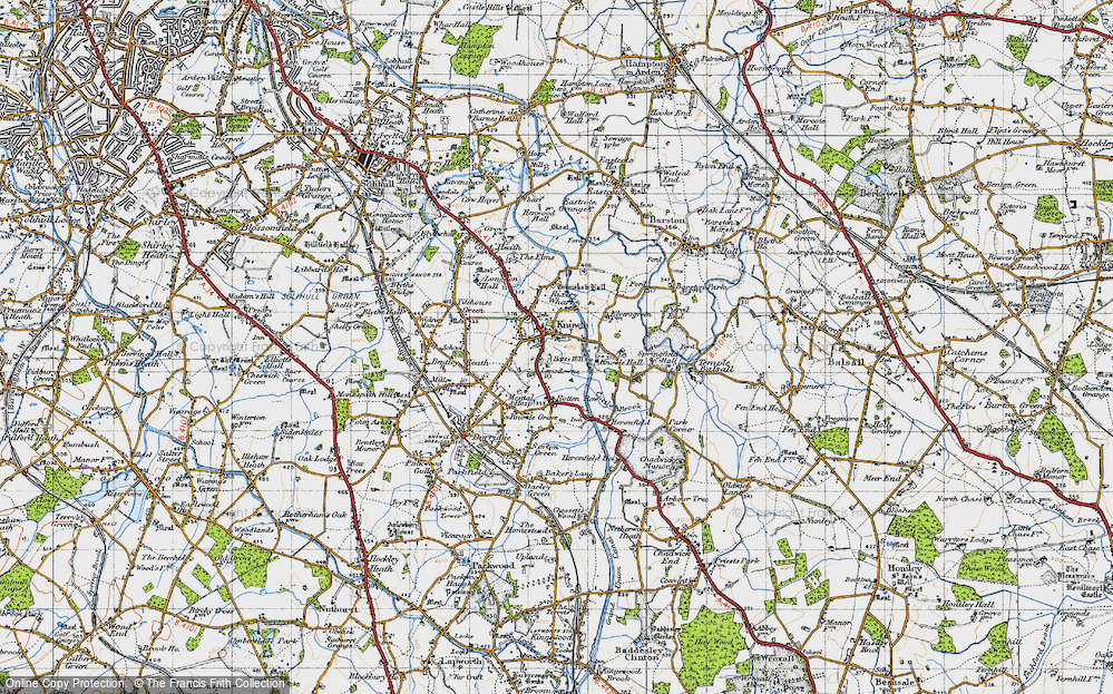 Old Map of Knowle, 1947 in 1947
