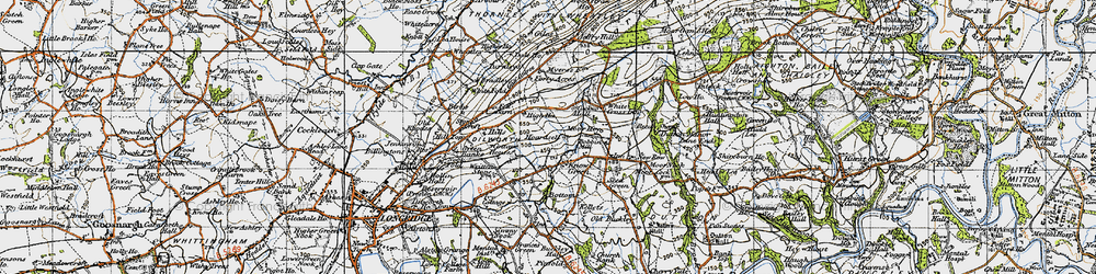 Old map of White Fold in 1947