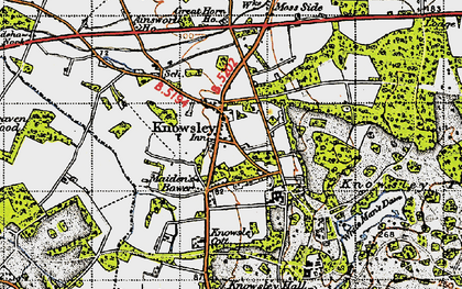 Old map of Knowsley in 1947