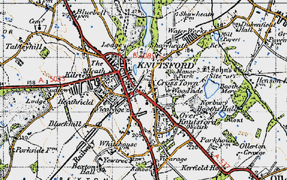 Old map of Knutsford in 1947