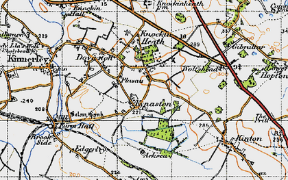 Old map of Wolfshead in 1947