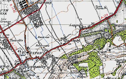 Old map of Lackenby in 1947