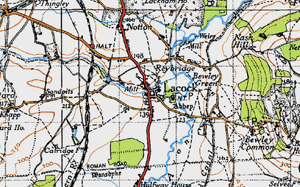 Old map of Lacock in 1940