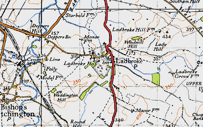 Old map of Wills Pastures in 1946
