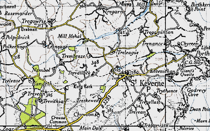 Old map of Laddenvean in 1946