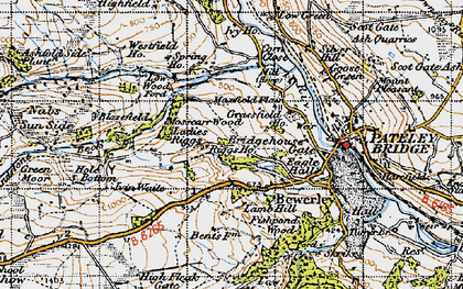 Old map of Mosscarr in 1947