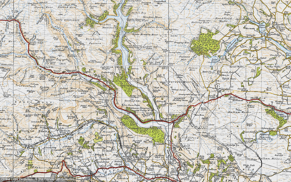 Old Map of Historic Map covering White Tor in 1947
