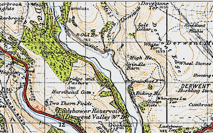 Old map of Wheel Stones in 1947