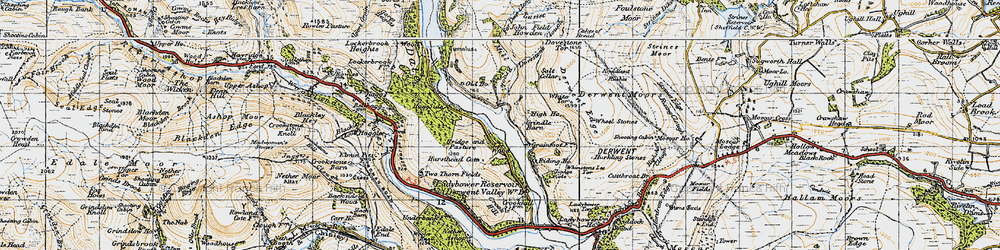 Old map of White Tor in 1947