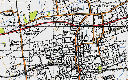 Old map of Laindon in 1946