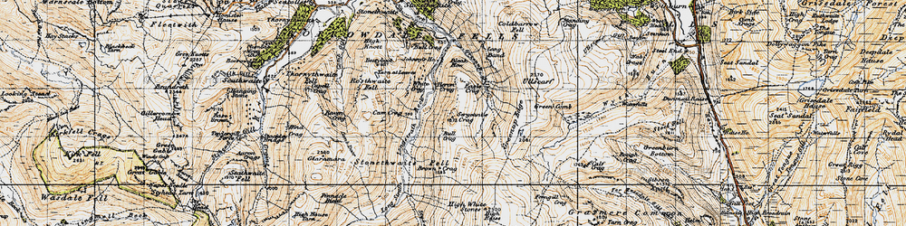 Old map of Langstrath Beck in 1947