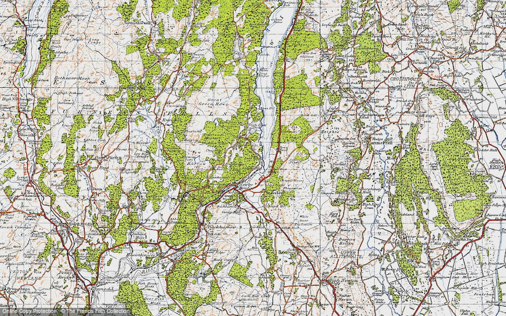 Old Map of Historic Map covering Astley's Plantation in 1947