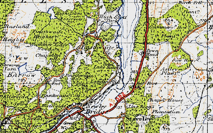 Old map of Astley's Plantation in 1947