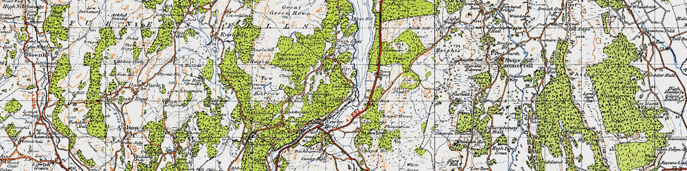Old map of YMCA National Centre in 1947