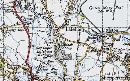 Old map of Abbey Chase in 1940