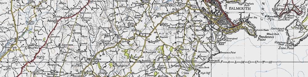 Old map of Argal Manor in 1946