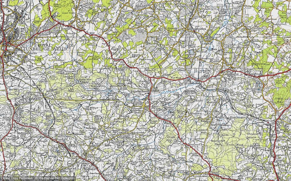 Old Map of Lamberhurst, 1946 in 1946