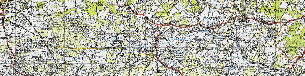 Old map of Lamberhurst in 1946