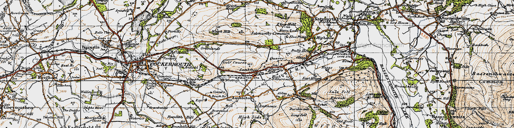 Old map of Tom Rudd Beck in 1947