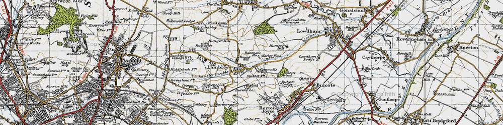 Old map of Lambley in 1946